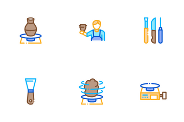 Pottery And Ceramics Icon Pack
