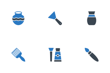 Pottery , Ceramic Classes Icon Pack
