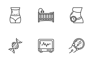 Pregnancy And Maternity Icon Pack