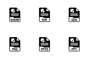 Presentations File Format Icon Pack