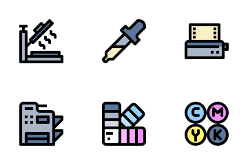 Printing Media Icon Pack