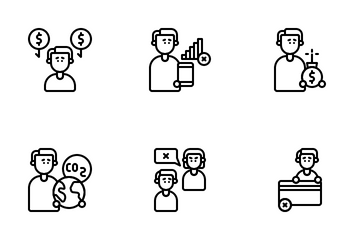 Problem Person Icon Pack