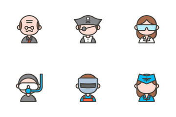 Profession Avatars Icon Pack