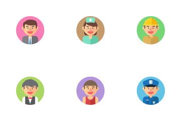 Profession Avatars Icon Pack