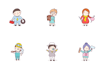 Professional Cartoon Characters Icon Pack
