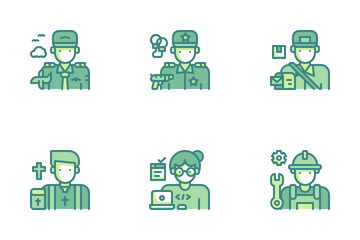 Professions Avatar Icon Pack