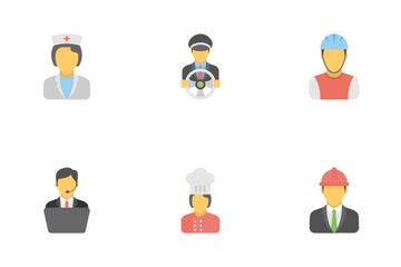 Professions Avatars Flat Icons  Icon Pack