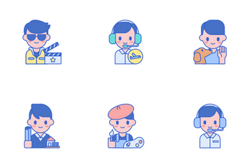 Professions Men Icon Pack
