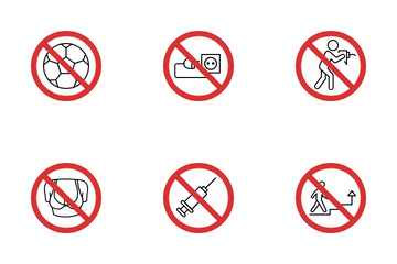Prohibited Sign Icon Pack