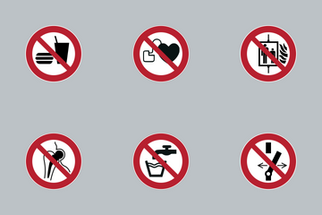 Prohibition Circular Signs Icon Pack