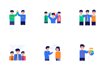 Project Management And Team Work Icon Pack
