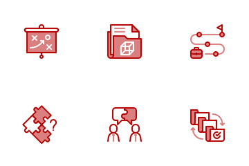 Project Management Chromatic Icon Pack