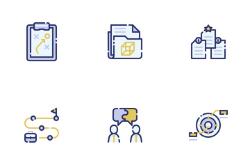 Project Management Filled Outline Icon Pack