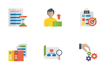 Project Management Flat Icons Icon Pack