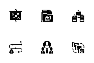 Project Management Glyph Icon Pack