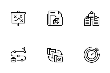Project Management LineArt Icon Pack