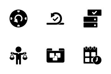 Projects Black Icon Pack