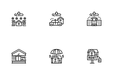 Property Rental Agency Icon Pack