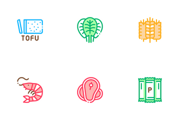 Protein Food Nutrition Icon Pack