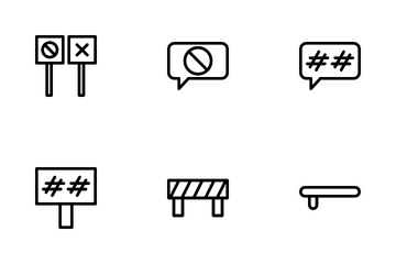 Protest And Vandalism Icon Pack