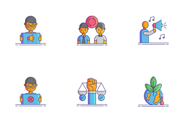 Protesting And Civil Disobedience Icon Pack