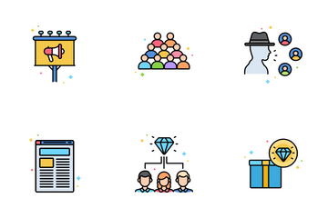 Public Relations Agency Icon Pack