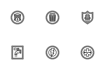 Public Service Signs Icon Pack