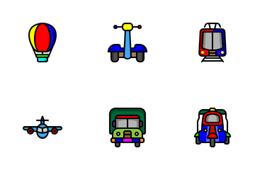 Public Transportation Icon Pack