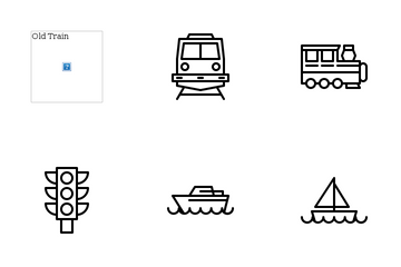 Public Transportation Icon Pack