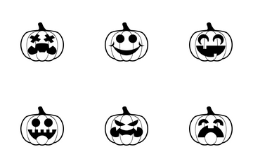 Pumpkins Mixed Styles Icon Pack