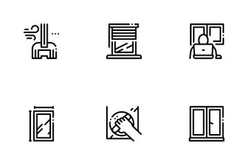 Pvc Window Frames Icon Pack