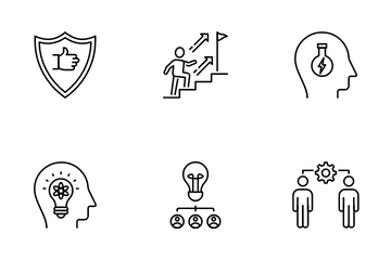 Qualities Of A Leader And Skills Icon Pack