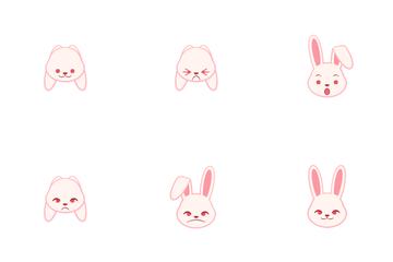 Rabbit Emoji Icon Pack