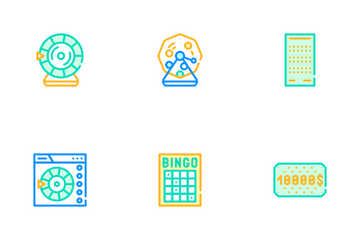 Raffle Lottery Game Icon Pack
