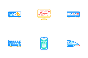 Railroad Transport Icon Pack