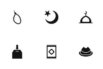 Ramadan And Eid Glyph Icon Pack