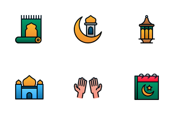 Ramadan (Filled Line Gradient) Icon Pack
