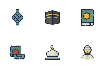 Ramadan Filled Outline Icon Pack
