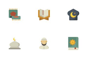 Ramadan Flat Colors Icon Pack