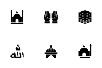 Ramadan Islamic Glyph Icon Pack