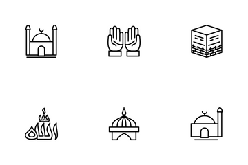 Ramadan Islamic Line Icon Pack