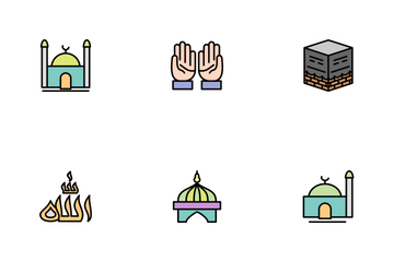 Ramadan Islamic Line Filled Icon Pack