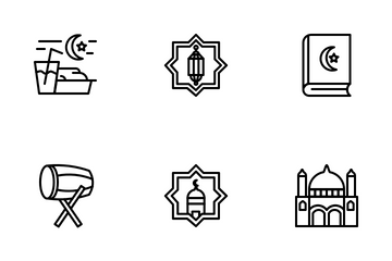 Ramadan (Line) Icon Pack