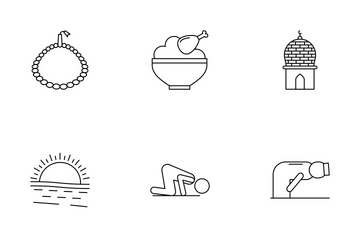 Ramadan Line Icons Icon Pack