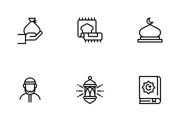 Ramadan LineArt Icon Pack