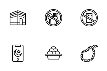 Ramadan (Outline) Icon Pack