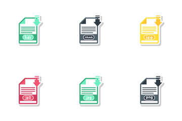 Raster Image File Formats Icon Pack