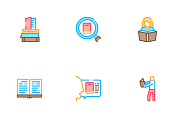 Reading Library Book Icon Pack