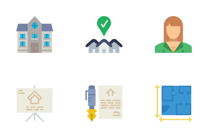 Real Estate 2 - Flat Icon Pack