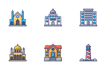 Real Estate & Buildings Icon Pack